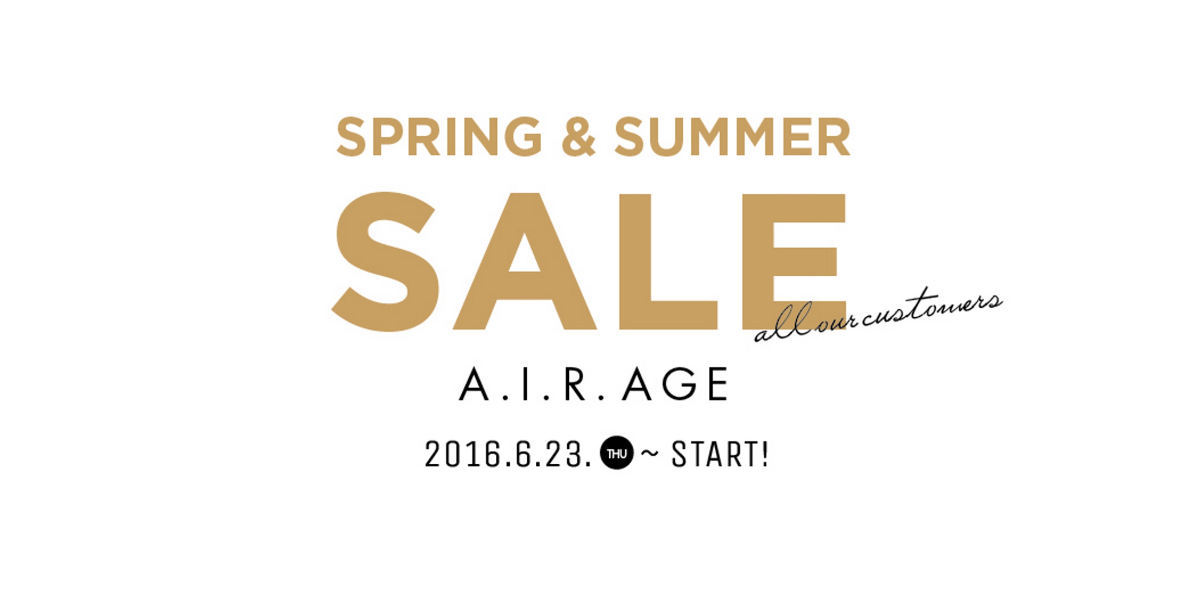 2016 spring & summer sale